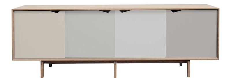 Andersen Furniture - S1 Skjenk - Eik såpe - Ocean Grey Andersen Furniture