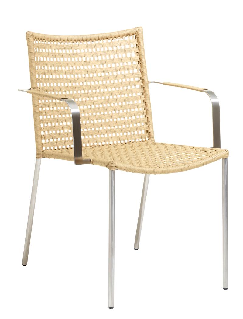 Cane-line - Straw Spisebordsstol m/arm - Natur Cane-line