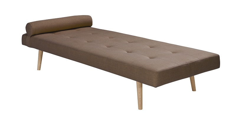 Harvey Daybed - Taupe stoff m/Eik ben