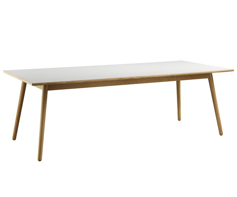 FDB Møbler - C35C Spisebord 220x95 - Natur/Lys grå FDB Møbler
