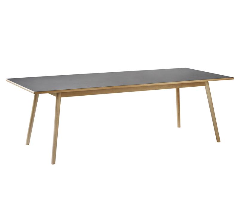 FDB Møbler - C35C Spisebord 220x95 - Sort/Natur FDB Møbler