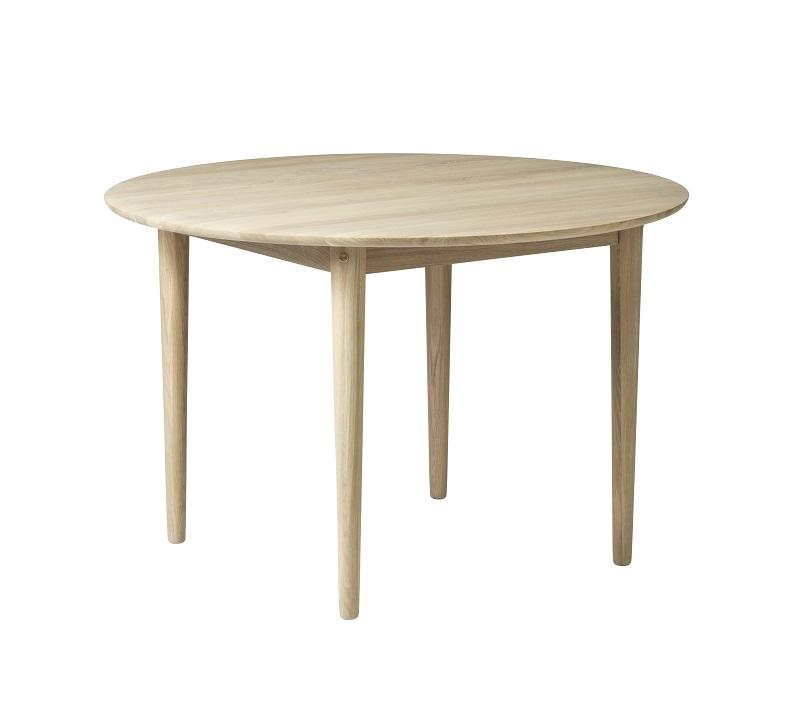 FDB Møbler - Bjørk Spisebord Ø115 - Natur FDB Møbler