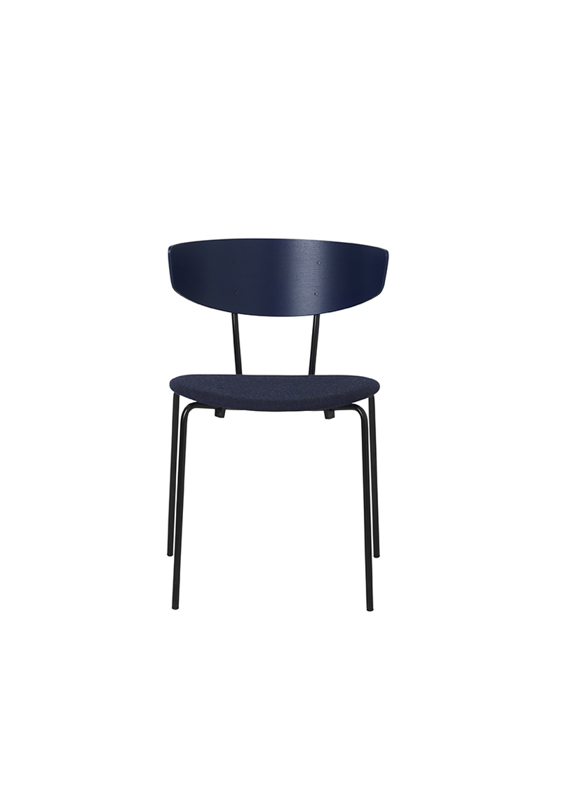 Ferm - Herman Chair - Spisebordsstol Mørkblå polst. ferm LIVING