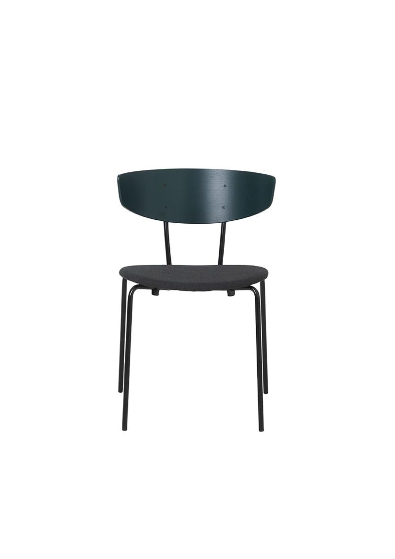 Ferm - Herman Chair - Spisebordsstol Grøn polstret ferm LIVING