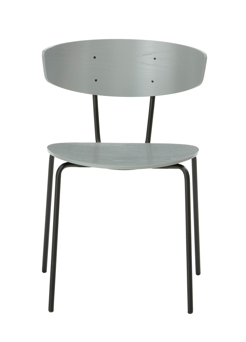 Ferm - Herman Chair - Spisebordsstol Grå eikefinér ferm LIVING