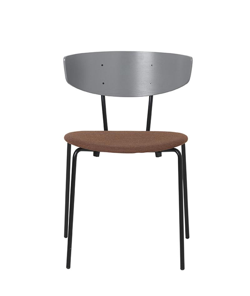 Ferm - Herman Chair - Spisebordsstol Rust polstret ferm LIVING