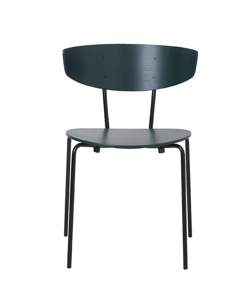Ferm - Herman Chair - Spisebordsstol Grøn eikefinér ferm LIVING