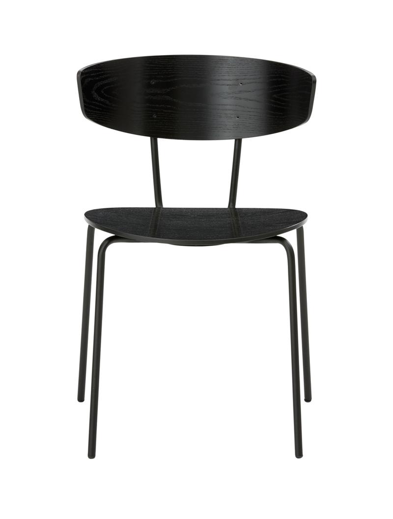 Ferm - Herman Chair - Spisebordsstol Sort eikefinér ferm LIVING