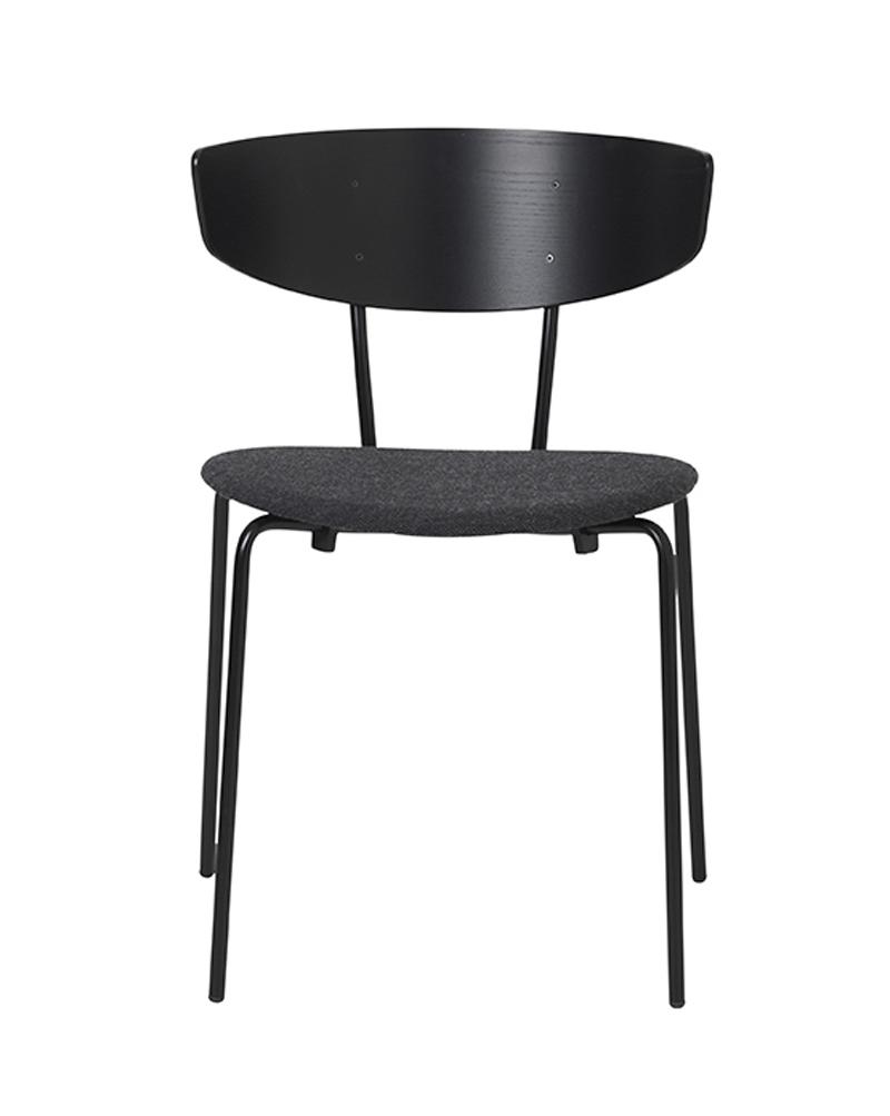 Ferm - Herman Chair - Spisebordsstol Mørkgrå polst. ferm LIVING