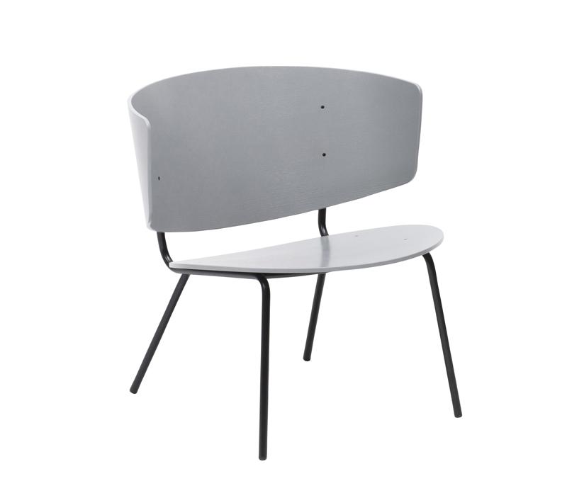 Ferm - Herman Lounge Chair - Grå eikefinér ferm LIVING