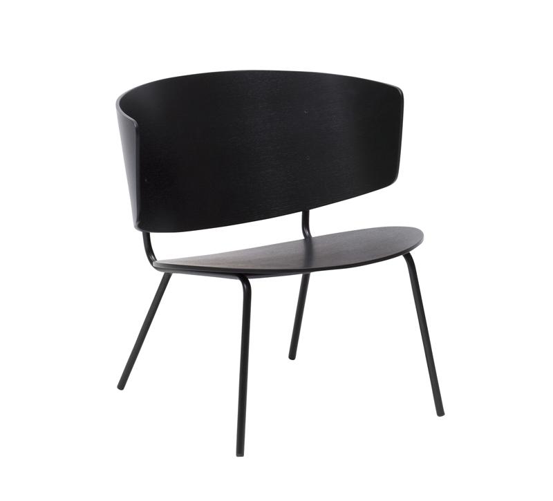 Ferm - Herman Lounge Chair - Sort eikefinér ferm LIVING