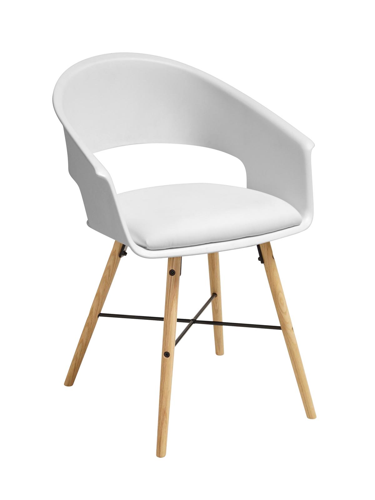 Ivar 10 Spisebordsstol m. hvidt sæde - Natur