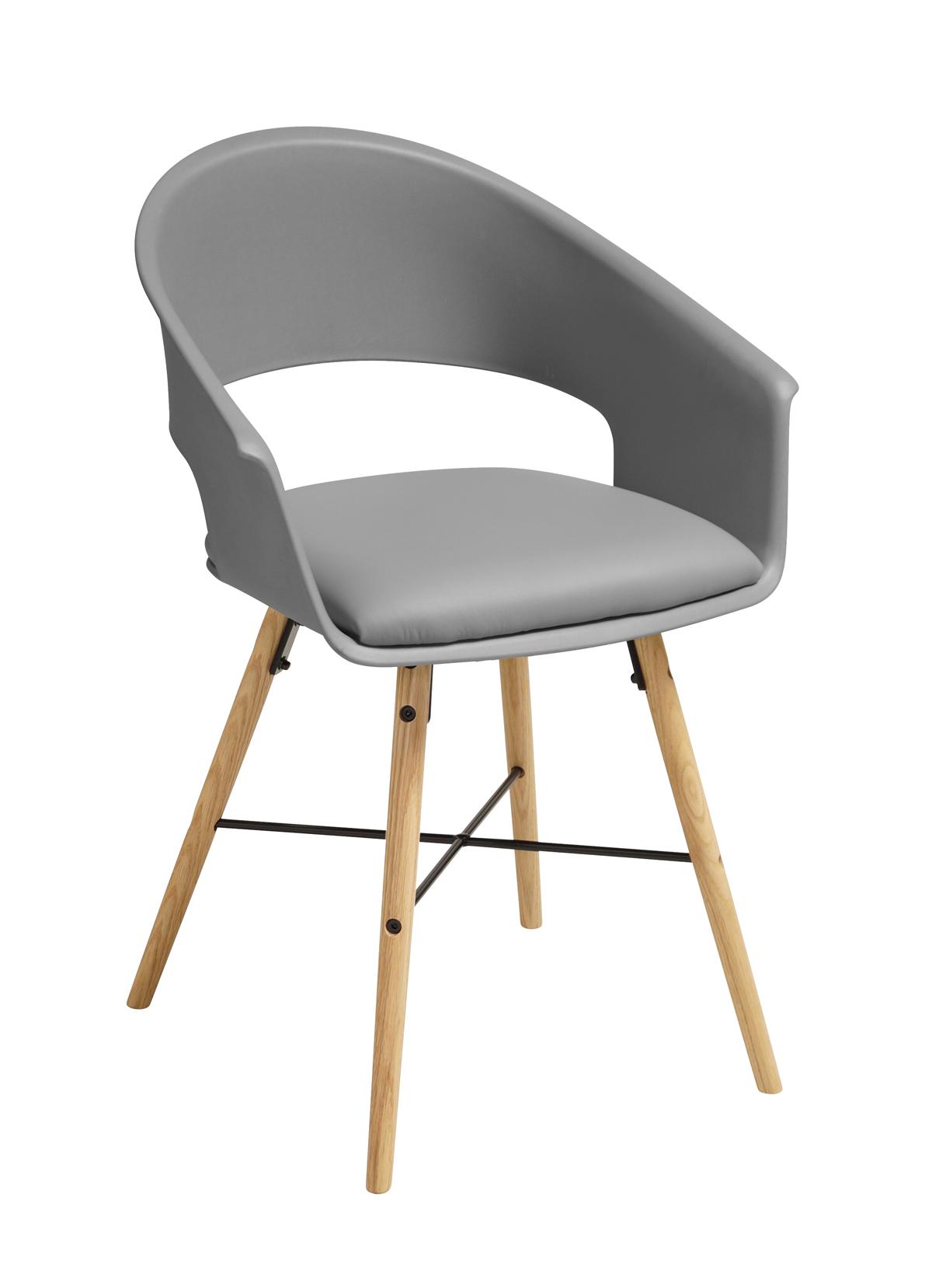 Ivar 10 Spisebordsstol m. grå sæde - Natur