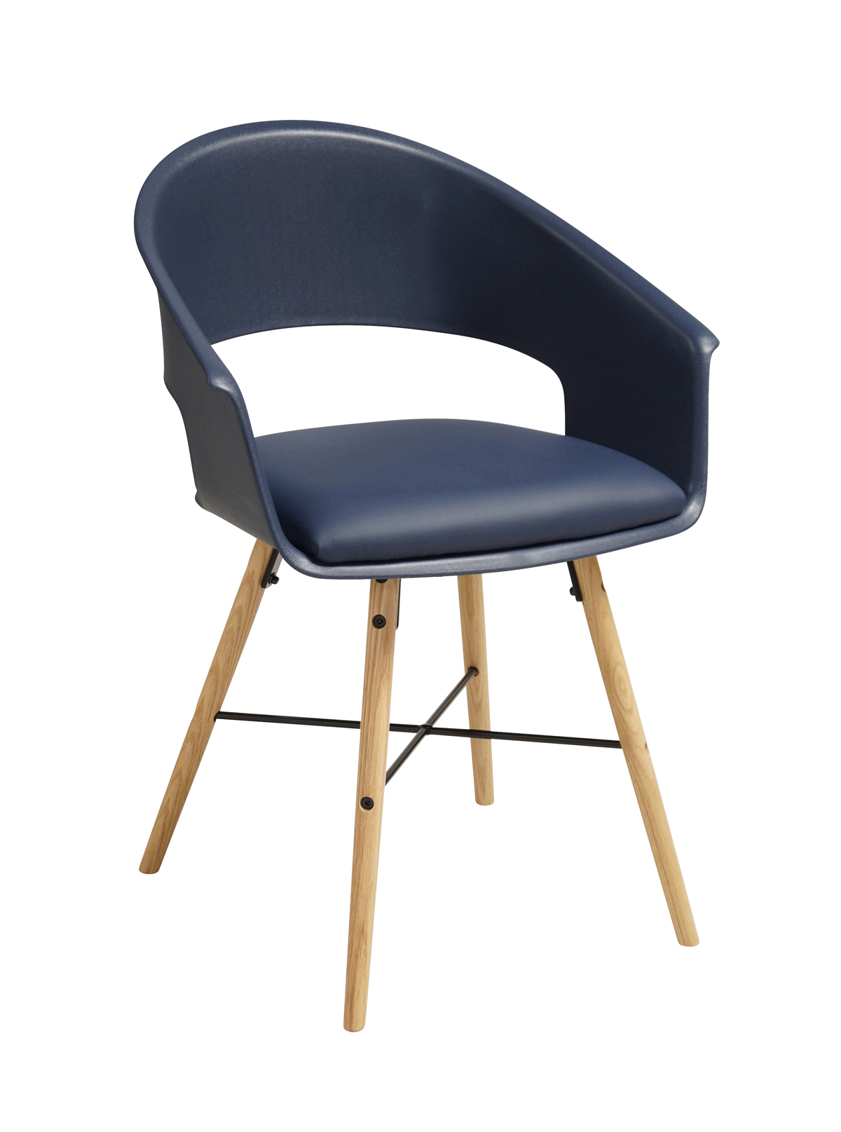 Ivar 10 Spisebordsstol m. insignia blue sæde - Natur