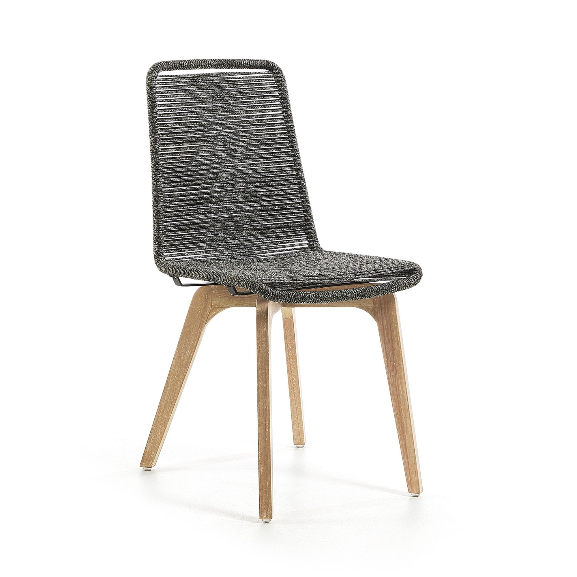 LaForma - Glendon Spisebordsstol - Natur/grå LaForma