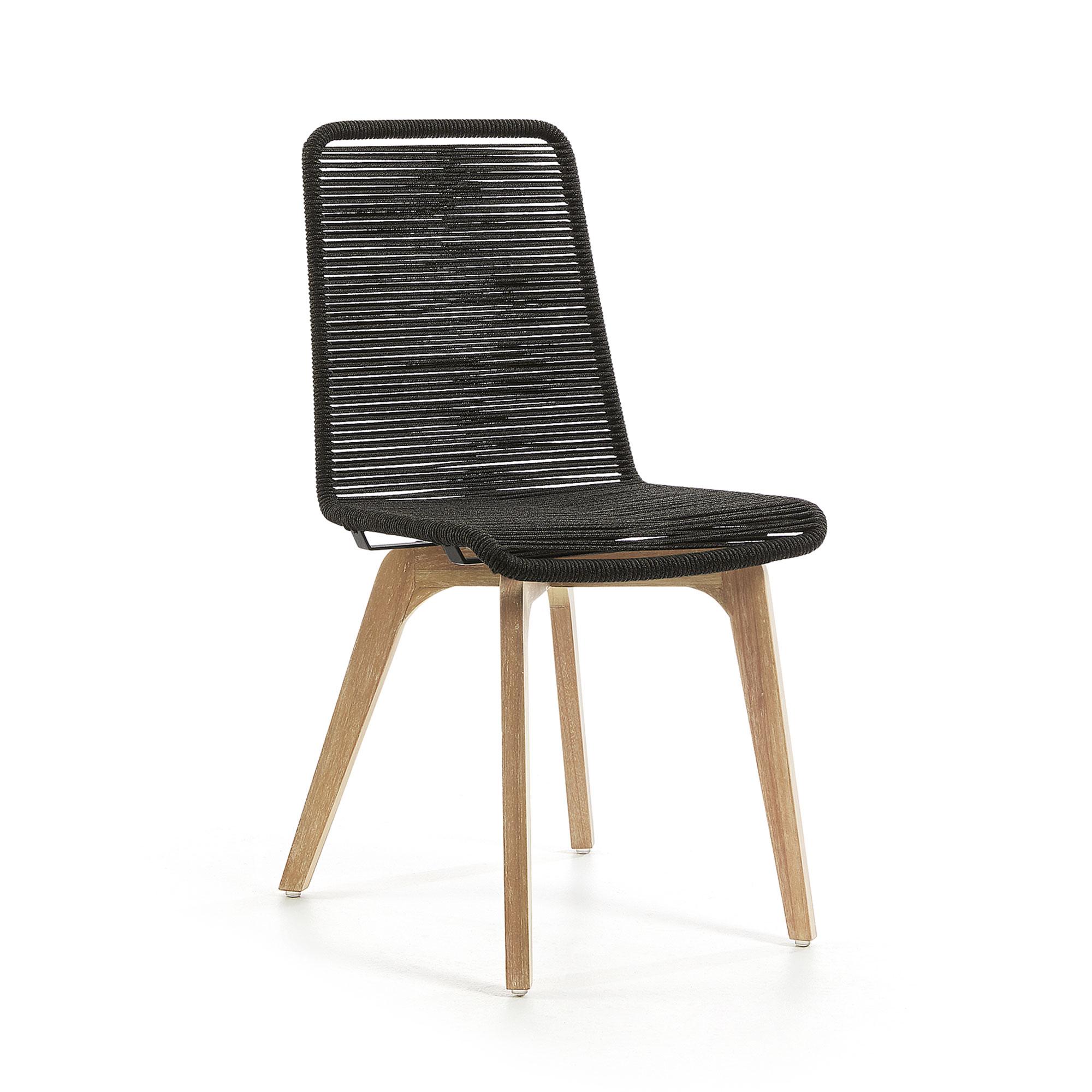 LaForma - Glendon Spisebordsstol - Natur/mørk grå LaForma