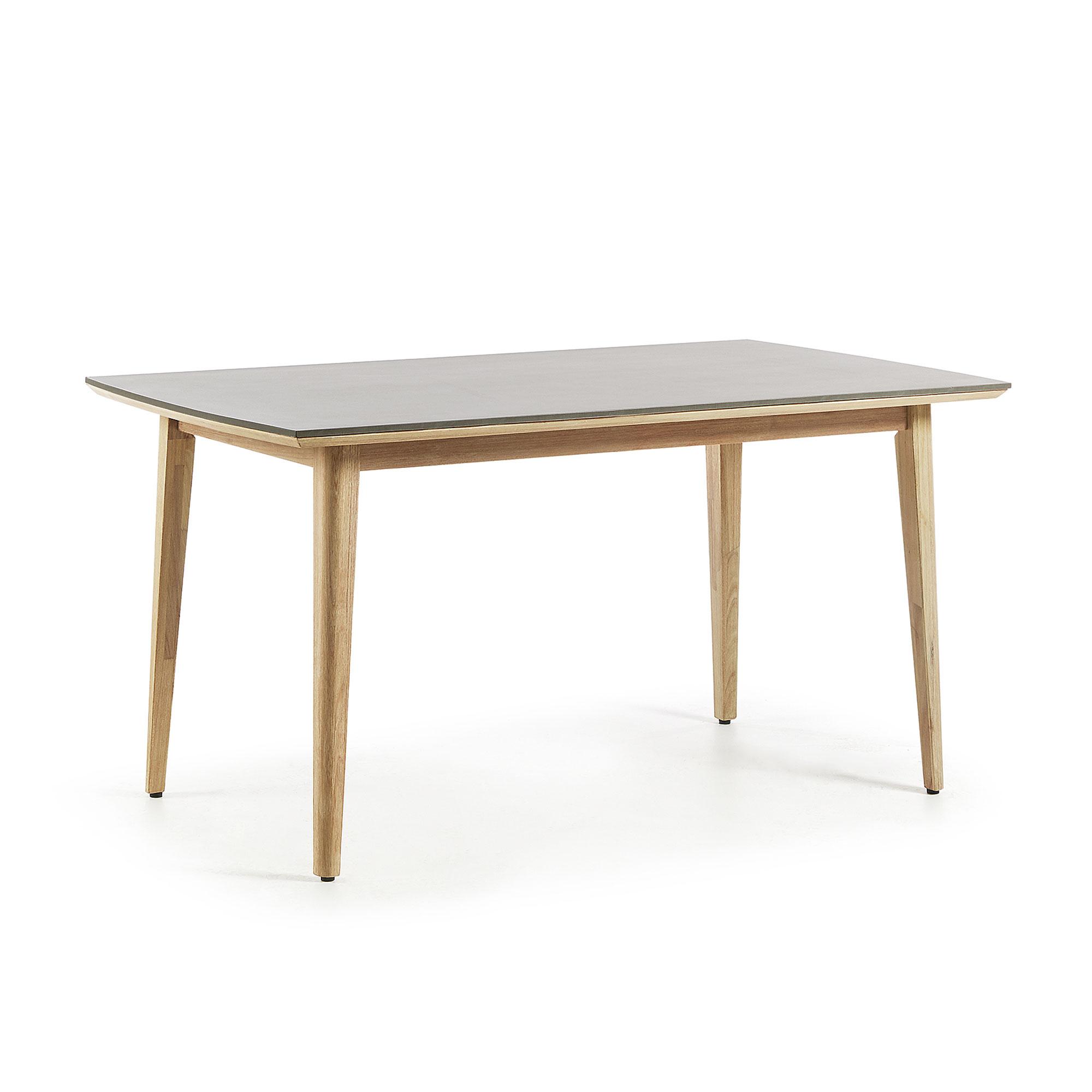 LaForma - Khloe Spisebord 160x90 - Natur/grå LaForma