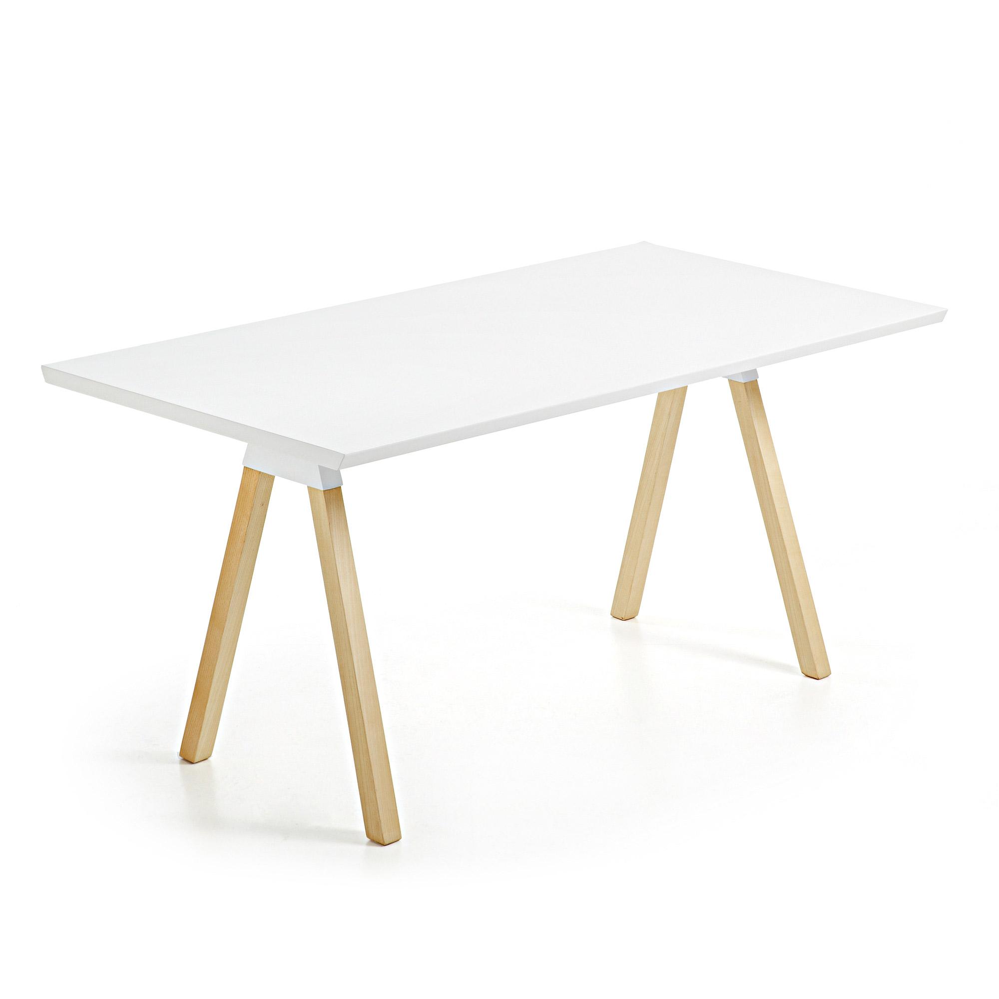 LaForma - Stick Spisebord 180x90 - Natur/Hvit LaForma
