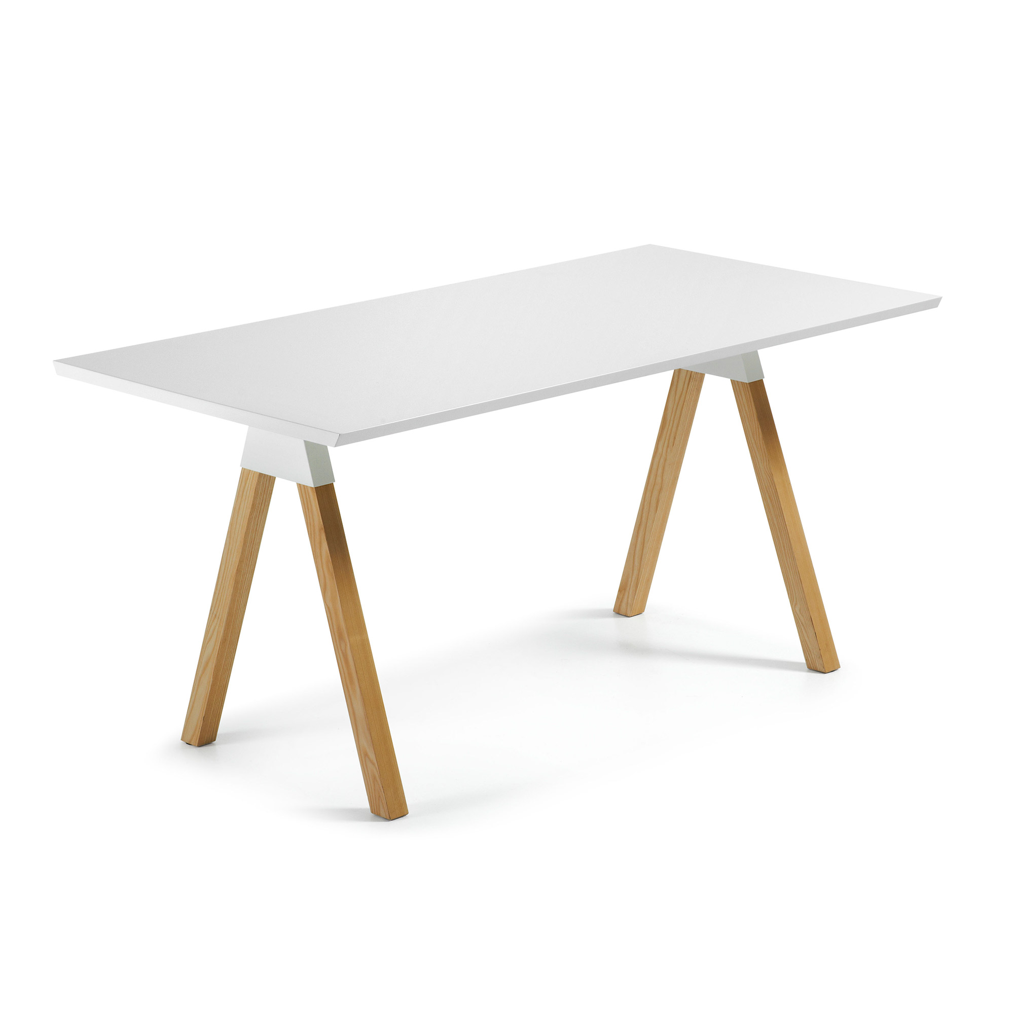 LaForma - Stick Spisebord 160x80 - Natur/Matt hvit LaForma