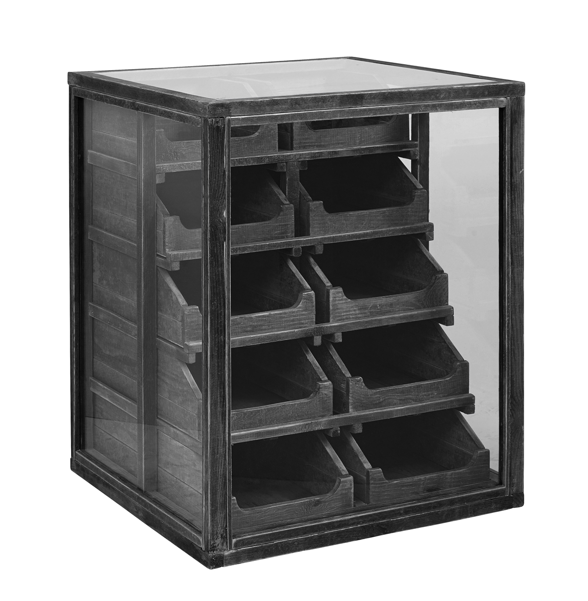 Nordal - Pharmacy Dresser m. 10 skuffer - Glas/Træ Nordal