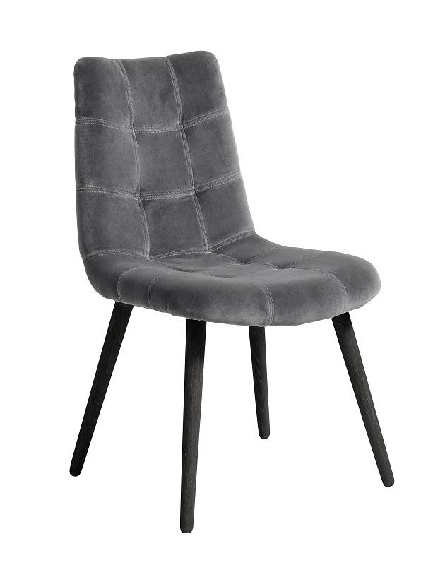 Nordal - Spisebordsstol i grå velour Nordal
