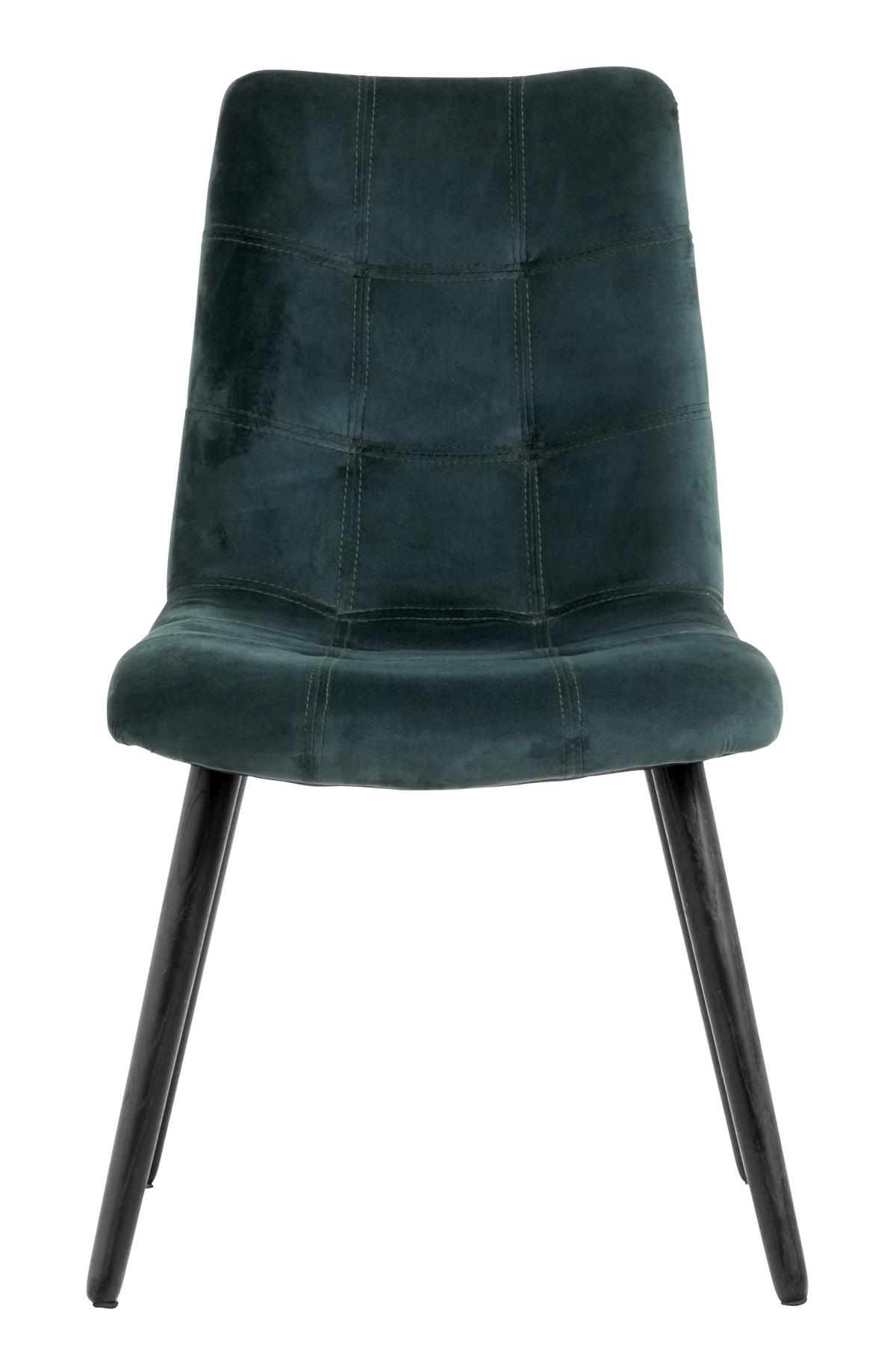 Nordal - Spisebordsstol m. velour - Grøn Nordal