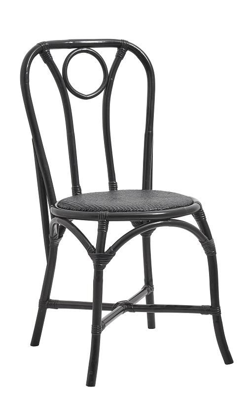 Nordal - Spisebordsstol i rattan - Sort Nordal