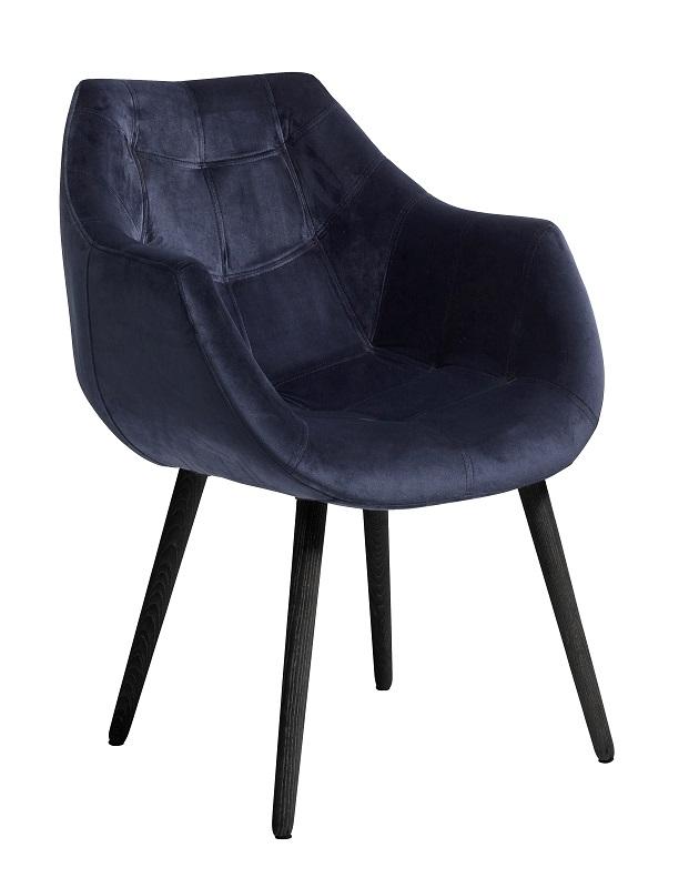Nordal - Spisebordsstol m/armlæn - Blå Nordal