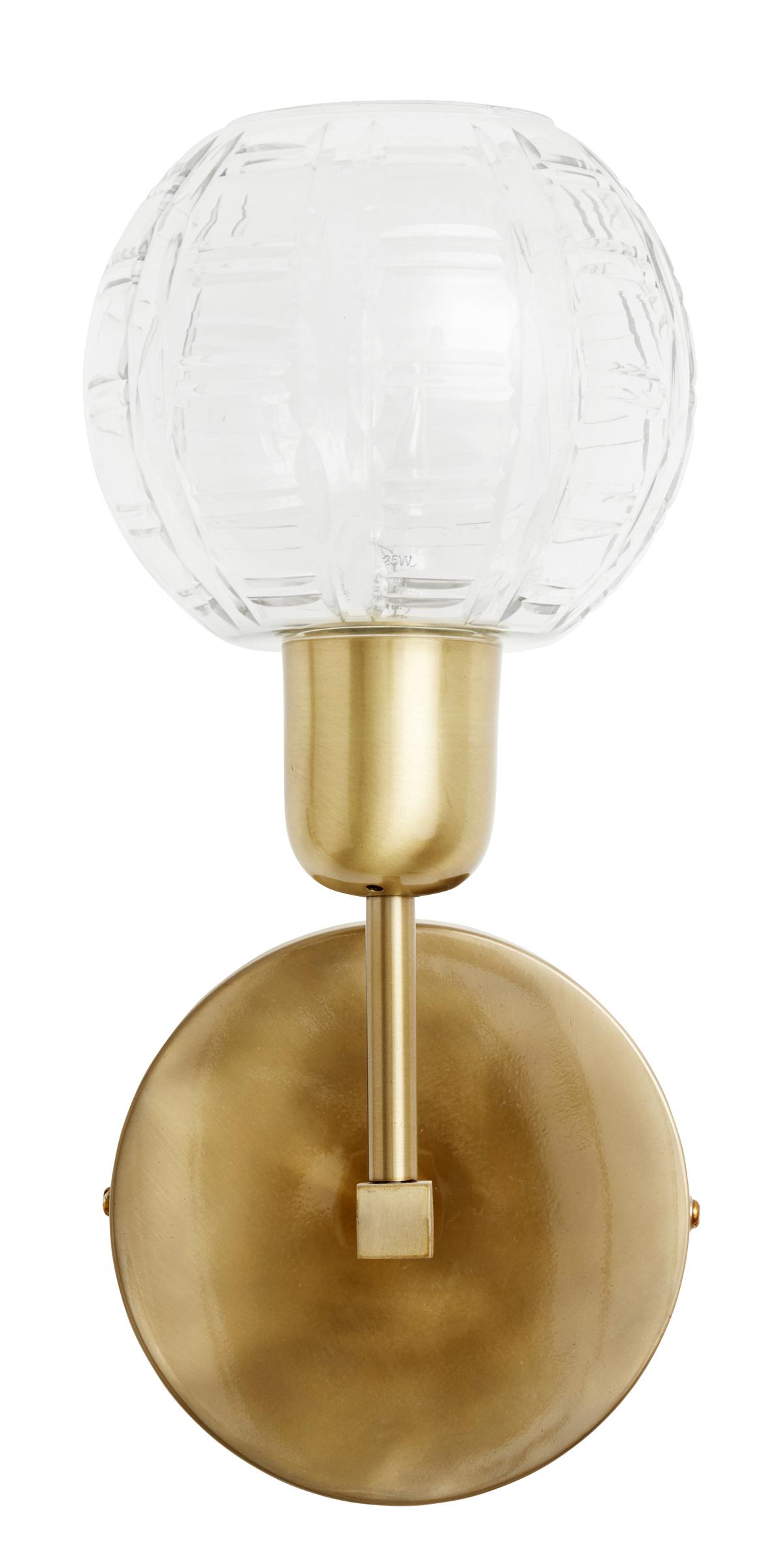 Nordal - Væglampe i glas og jern - Gylden Nordal