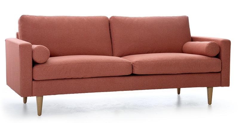 Nordic-C - Sofa IQ 2,5-pers. med ben i eg - Rosa Nordic-C