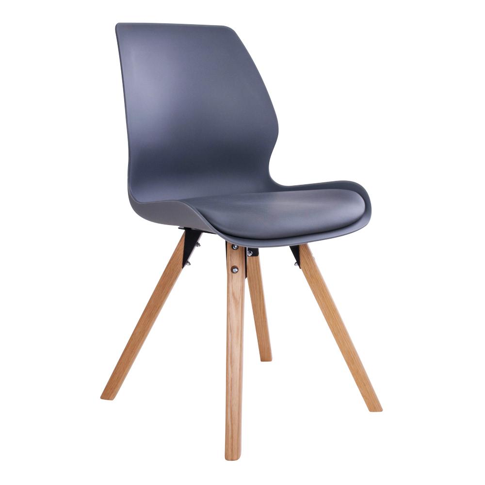 Rana Spisebordsstol i grå med naturtræsben