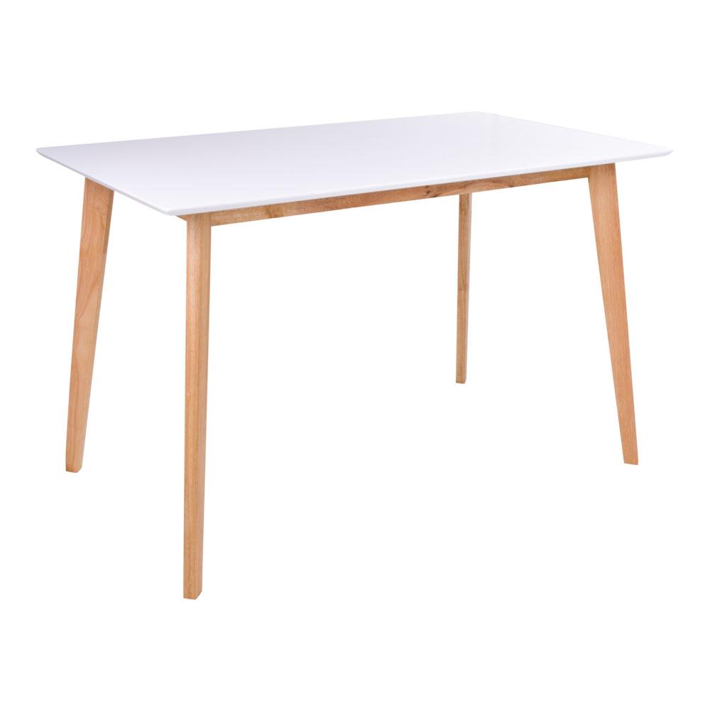 Vojens Spisebord i hvid og natur 120x70xh75 cm