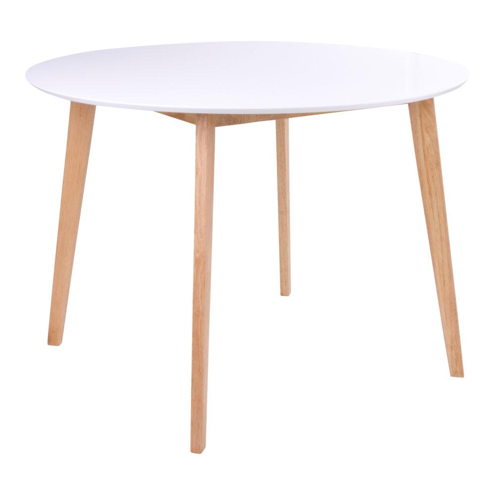 Vojens Spisebord i hvid og naturØ105,h75 cm