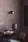 Oscar Bordlampe - Sort/Messing