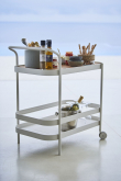 Cane-line - Roll Trillebord - Hvit alu, teak