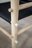 Cinas - Noble Safari stol - Sort læder