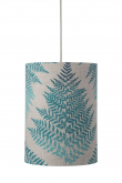 Ebb&Flow - Lampeskjerm, fern leaves graphic, teal, Ø30