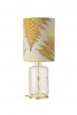 Ebb&Flow - Pillar lampefot, Golden smoke dimples, Gull base