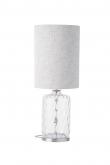Ebb&Flow - Pillar lampefot, Klar dimples, Sølv base