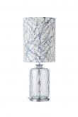 Ebb&Flow - Pillar lampefot, topaz blue dimples, Sølv base