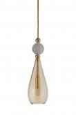 Ebb&Flow - Smykke pendel, Golden smoke m. Krystall ball