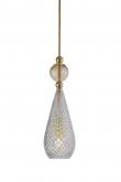 Ebb&Flow - Smykke pendel, Krystall m. Golden smoke ball