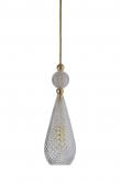 Ebb&Flow - Smykke pendel, Krystall m. Gull