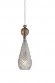 Ebb&Flow - Smykke pendel, Krystall m. obsidian ball, Sølv