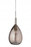 Ebb&Flow - XL Lute pendel, obsidian / platin