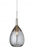 Ebb&Flow - XL Lute pendel, smokey grå / platin