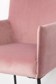 homii Dion Spisestol m. armlen - Pink Velur