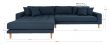 Lido Lounge Sofa venstrevendt sjeselong - Mørkeblå