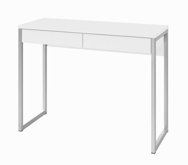 Function Plus Skrivebord - Hvit høyglans - 40x101,6