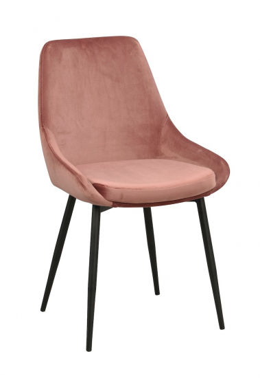 Sierra Spisebordstol, Pink Velur